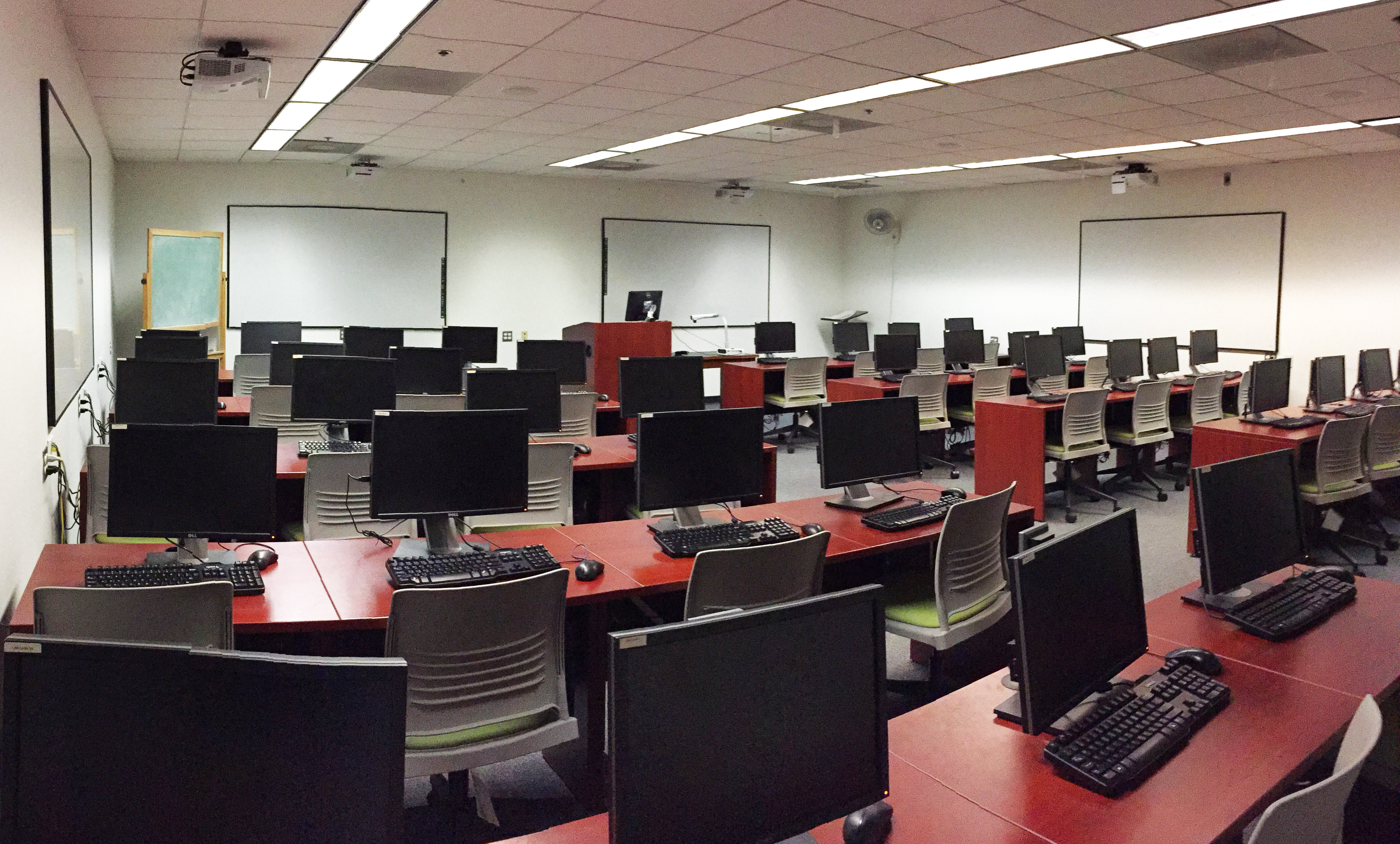 Classroom at Lloyd Sealy Library