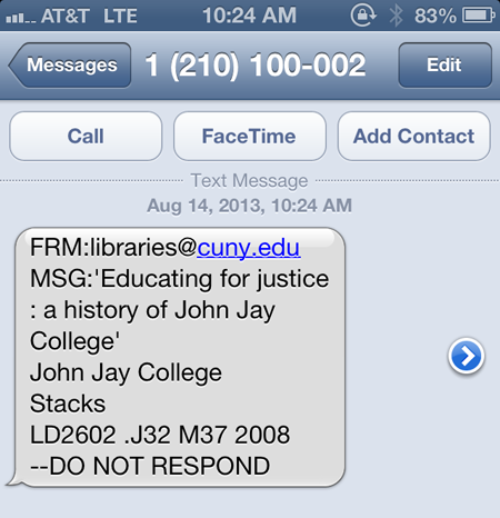 SMS from CUNY+