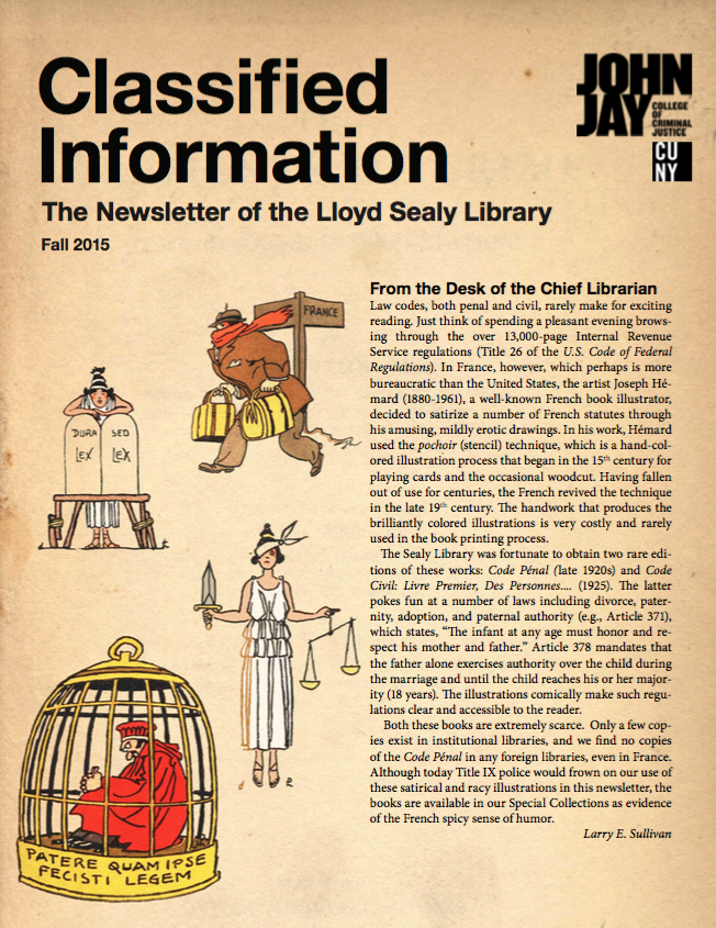 Cover of Fall 2015 newsletter