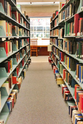 The Stacks at the Lloyd Sealy Library, John Jay