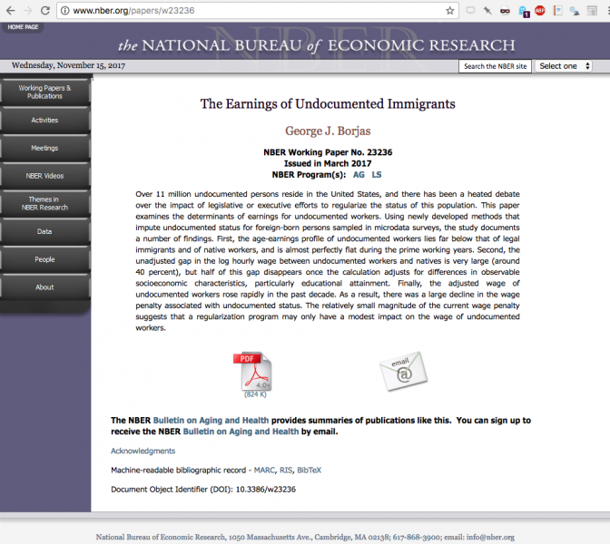 Paper example, The earnings of undocumented immigrants