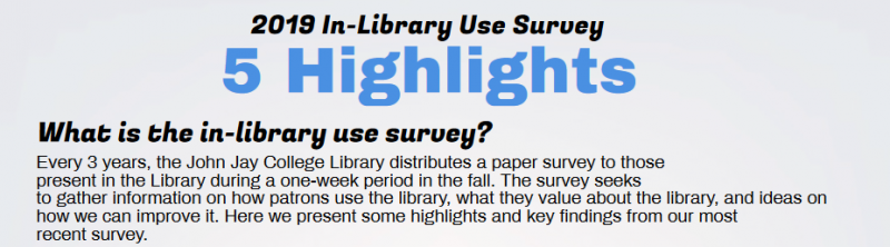 Image explaining what the in-library use survey is